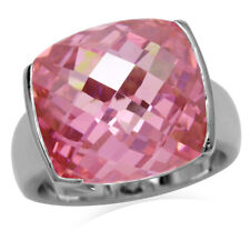 Pink CZ Sterling Silver Ring SZ 6