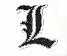 Death Note anime L symbol iron on patch 80mm x 65mm
