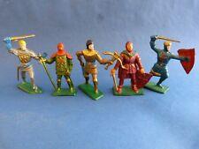 STARLUX choc - 5 soldats en plastique du moyen-âge - chevaliers - Lot 2