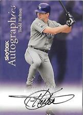 1999 SkyBox Autographics Todd Helton Autograph