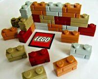 LEGO Embossed / Profile Bricks 1x2 (Pack of 8) Choose Colour - Design 98283