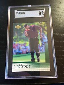 2001 Upper Deck Golf Tiger Woods #1 RC Rookie Card NM-Mint SGC 8 !!!