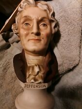 Lefton China US President Thomas Jefferson Porcelain Bust Monticello