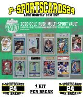 2020 GOLD RUSH MULTI-SPORT CARDS VAULT LIVE PACK BOX BREAK #3716 | 1 DIVISION
