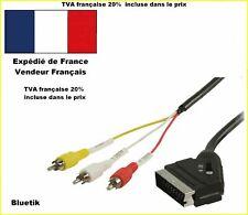 Câble Péritel de commutation –rca avec Adaptateur Périt