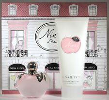 Nina L'Eau by Nina Ricci 2 Pcs Set 2.7 oz EDT Spray+6.7oz Body Lotion for Women