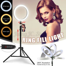 10'' Dimmable LED Ring Light Phone Holder Tripod Stand for Youtube Makeup Video