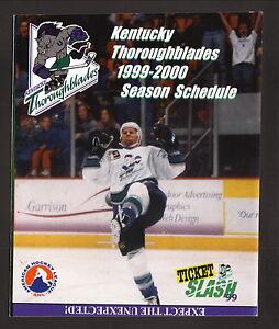 Kentucky Thoroughblades--1999-00 Schedule--McDonald's--Sharks Affiliate