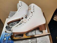 Jackson Excel Ice Skates White Size 7 Ladies JS1290