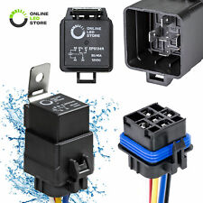SPDT 5-Pin 12V 30/40A Automotive Bosch Style Waterproof Relay Kit for Boat Auto
