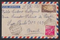 SPAIN 1963, Air Mail Cover to Brazil