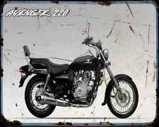 Bajaj Avenger 220 10 03 A4 Metal Sign moto antigua añejada De