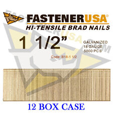 "1 1/2"" 18 Gauge Straight Brad Finish Nails 18 ga (5,000 ct) (Case of 12)"