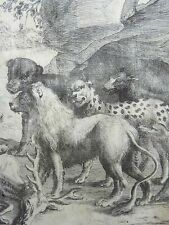 Wenceslaus Hollar (1607-1677); THE LION and the BEASTS Aesop - Master Engraving