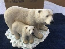 More details for large boxed sherrat and simpson polar bear and two cubs # 55390.