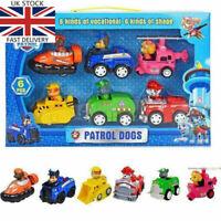 Racer Car Patrol Dog 6PCS Marshall Rubble Rocky Chase Skye Kids Gift Toys UK