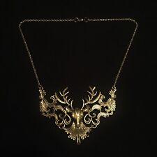 Vintage Inspired Filigree Stag Deer Baratheon Statement Necklace