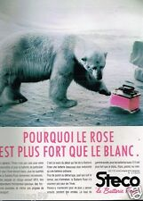 Publicité advertising 1988 La batterie Rose Steco