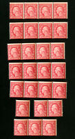 US Stamps # 492 AV/F Mint lot of 25 OG NH Scott Value $475.00
