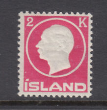 Iceland Sc 97 Frederik VIII 2 Kr Rose VF Mint Never Hinged