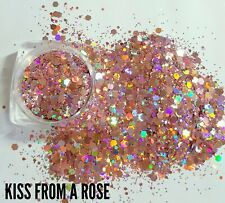 Nail glitter 5g kiss from a rose holographic multicut glitter for acrylic/gel