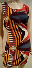 Hoss Intropia Damen Multi-Colour Bold Print Belted ärmellos Kurz Minikleid