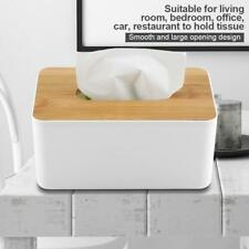 Office Tissue Cover Tissue Box Decoration Wooden Storage Facial Tissue Dispenser