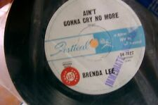 rare oz promo stickered brenda lee aint gonna cry anymore