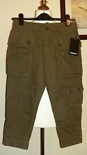 "DSQUARED2 Girls Knee Cargo Shorts Size 28"" Waist Made in italy"