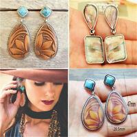 Vintage Women Boho Style Turquoise Earrings Eardrop Dangle Ear Stud Jewelry Gift
