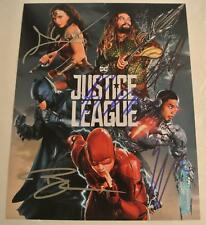 JUSTICE LEAGUE Cast SIGNED 8x10 Photograph AUTOGRAPH Gal Gadot Affleck Momoa +