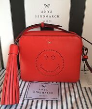 Anya Hindmarch Orange Leather Smiley Cross Body Bag - New With Tags.