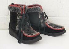 Woodbridge Italy Black Suede Leather & Faux Fur Apres Ski Boots EU 36 US 5 GREAT