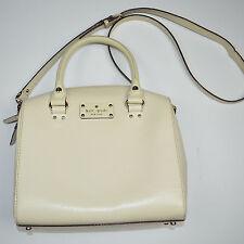 Mint KATE SPADE Alessa Wellesley Satchel Beige Off White Leather Handbag