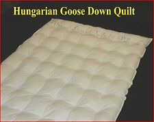 QUEEN SIZE HUNGARIAN GOOSE DOWN QUILT DUVET 5 BLANKET WARMTH 100% COTTON COVER