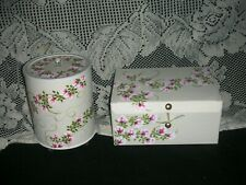 Keepsake Container Set of 2 ej hp pink roses shabby chic hand painted bx34gBx41P