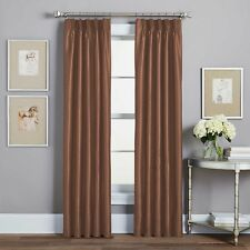 Spellbound Pinch-Pleat 84-Inch Rod Pocket Lined Window Curtain Panel in Spice
