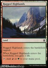 RUGGED HIGHLANDS Khans of Tarkir Magic The Gathering MTG cards (GH)