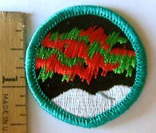 Girl Scout Junior NORTHERN LIGHTS BADGE Council Own Patch Alaska Aurora Borealis