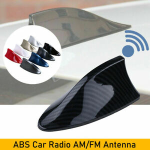 Carbon Fiber Shark Fin Roof Antenna Aerial FM/AM Radio Decoration Auto Universal