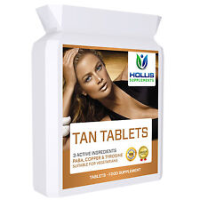 120 Tanning Tablets/Pills Tan Bronze Glow Get Sunkissed Without Sun beds