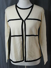 Requirements, Small, Butter Cream Sweater with Inset, New without Tags