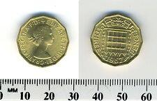 Great Britain 1967 -  3 Pence Nickel-Brass Coin - Queen Elizabeth II - #1