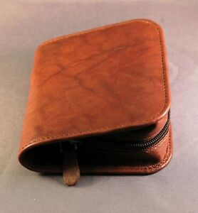 CLOSEOUT - Diabetic Glucometer / Glucose meter leather case - Antique brown
