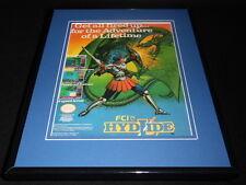 Hydlide 1989 NES Nintendo 11x14 Framed ORIGINAL Vintage Advertisement
