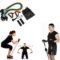 Resistance Bands Set Muscle Training Pilates Yoga Gear Heavy Stretch Gym Workout