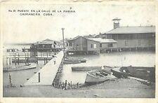 c1910 Postcard; No.31 Puente en la Calle de la Marina Caimanera Cuba Unposted