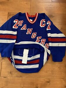 Authentic Gerry Cosby CCM New York Rangers Size 46 Brian Leetch  Hockey Jersey