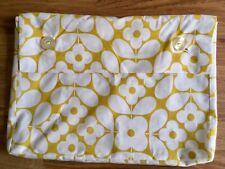Orla Kiely Flower Tile Yellow Small Storage Dust Bag New Cotton Fabric