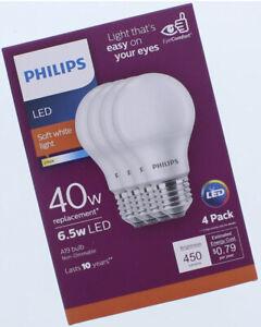PHILIPS LED Soft White Light Bulbs 40w (4 Pack)